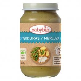 Tarrito de Verduras y Merluza Desde 8 Meses Sin Sal Añadida Ecológico Babybio Sin Gluten 200 G.