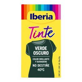 Tinte Para la Ropa Verde Oscuro 40ºc 2 Sobres + Fijador Iberia 1 Ud.