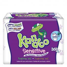 Toallitas Wc Sensitive Dodot Kandoo Pack de 2 Paquetes de 50 Ud.