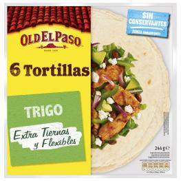 Tortillas de Trigo Old el Paso 348 G.