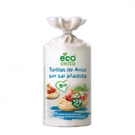 Tortitas de Arroz Sin Sal Añadida Ecológicas Ecocesta 100 G.