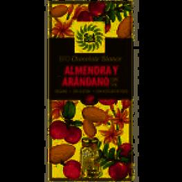 Tableta Chocolate Blanco Almendras y Arandano Bio 70 Gr