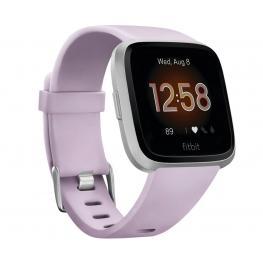 Fitbit Versa Lite Lila Plata Smartwatch Reloj Deportivo Con Pantalla Táctil y Correa Lila - Fb415Srlv Versa Lite