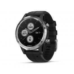 Garmin Fénix 5 Plus Plata Con Correa Negra 47Mm Smartwatch Premium Multideporte Gps Integrado Wifi Bluetooth - Fénix 5 Plus Plata 47Mm