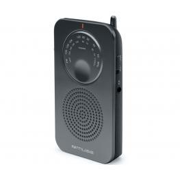 Muse M-01 Rs Negro Radio Analógica de Bolsillo Fm/am Con Altavoz Integrado - M-01 Rs
