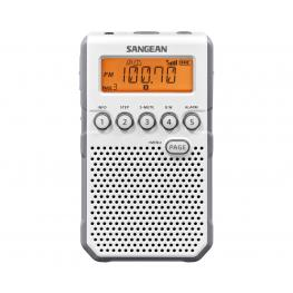 Sangean Dt-800 Blanco Radio Digital Bolsillo Am Fm Con Rds Pantalla Lcd Batería Recargable - Dt-800 White