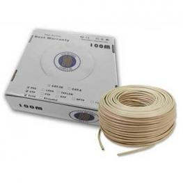 Cable 100M Bobina Rj45 Utp Cat.6 Solido