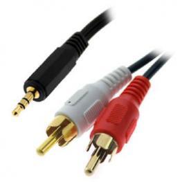 Cable 3Go Audio Jack 3,5 M - 2Xrca M 2M