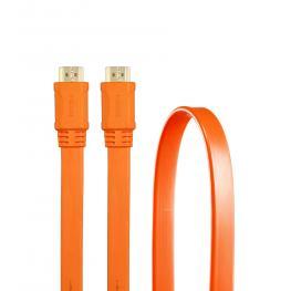 Cable 3Go Hdmi V1.4 Plano 1.8M 24K Naranja