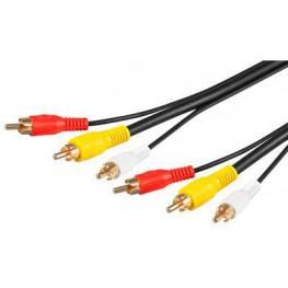 Cable Audio 3X Rca M-M 3M