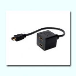 Cable Bifurcador Hdmi 1Xm - 2Xh 20Cm