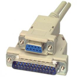 Cable Serie Null Modem Db9H-Db25M 2M