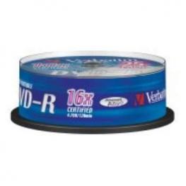 Dvd-R Verbatim 4.7Gb 16X Imprimible Pack 25U