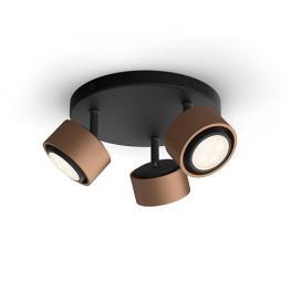 Lampara Techo Philips Ferano Spiral Copper 3X4,3W