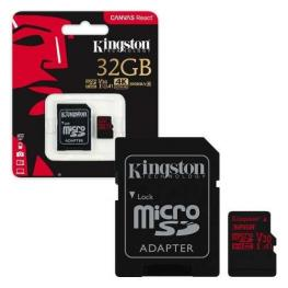 Memoria Micro Sd 32Gb Kingston Canvas React 4K