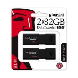 Pen Drive 32Gb X 2 Kingston Datatraveler 100 G3 Us