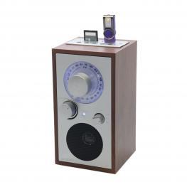 Radio Sunstech Madera Diseño Retro