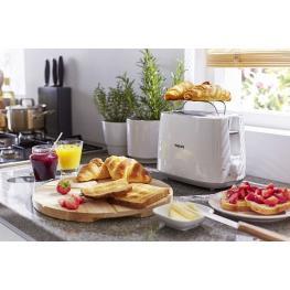 Tostadora Philips Daily 2 Slot Hd2581 800W Blanco