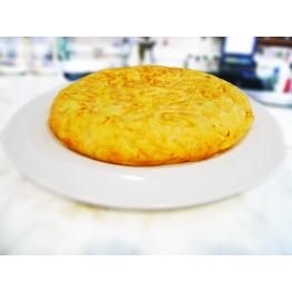 Tortilla de Patatas Con Cebolla Con Pan
