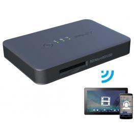 Pny Wireless Media Reader Wi-Fi Negro Lector de Tarjeta