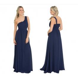 Vestido Griego Color Azul Marino