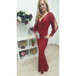 Vestido de Fiesta Musa Color Rojo