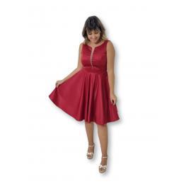 Vestido Corto Berta Granate