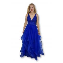 Vestido Largo Lanzarote Azul Electrico