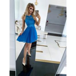 Vestido Corto Cristina Azul