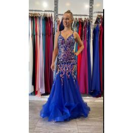 Vestido de Fiesta Bridals Azul