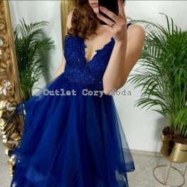 Vestido Largo Lanzarote Color Azul Electrico