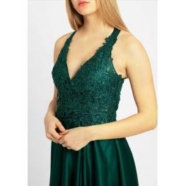 Vestido Armonia Corto Color Verde Botella