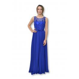 Vestido Largo Oporto Azul Electrico