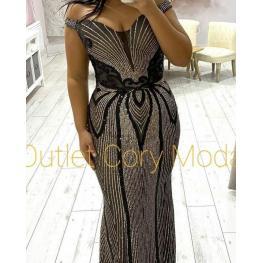 Vestido de Fiesta Dubai Color Marino