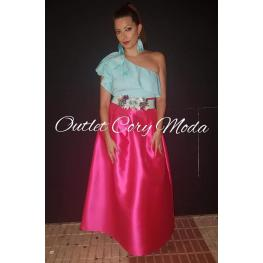 Falda de Fiesta Monica Color Fucsia