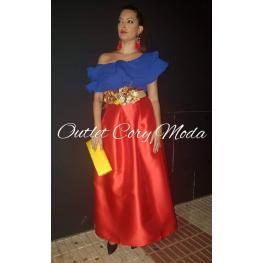 Falda de Fiesta Monica Color Rojo
