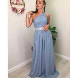 Vestido Largo Griego Color Grisaceo