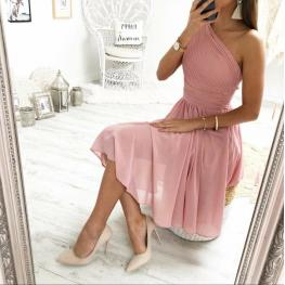 Vestido Corto Griego Rosa Palo