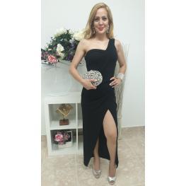 Vestido de Fiesta  Largo Noa Color Negro