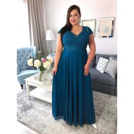 Vestido Valentino Color Turquesa