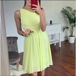 Vestido Corto Griego Color Amarillo
