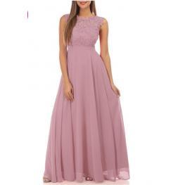 Vestido Largo Fantasia Rosa