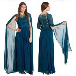 Vestido de Fiesta Largo Marta Color Esmeralda