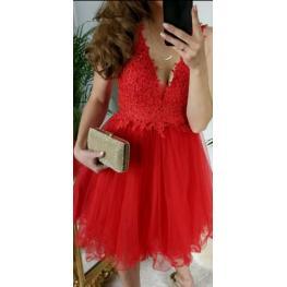 Vestido Corto Vanesa Rojo
