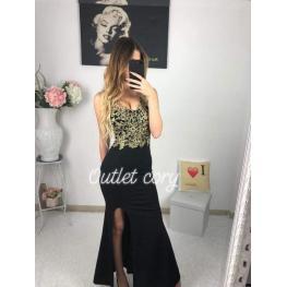 Vestido Largo Alba Color  Negro