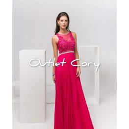 Vestido Alejandra Color Fucsia