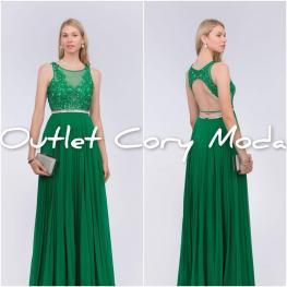 Vestido Alejandra Color Verde Hierba