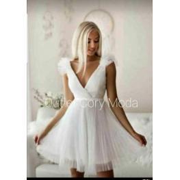 Vestido Corto Aurora Color Blanco
