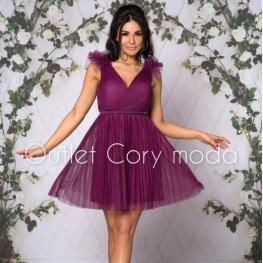 Vestido Corto Aurora Color Buganvilla
