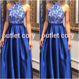Vestido Largo Bea  Azul Electrico